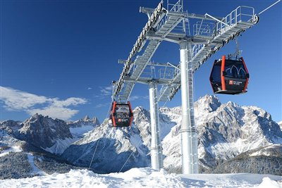 Dolomites of Sesto - cable-cars